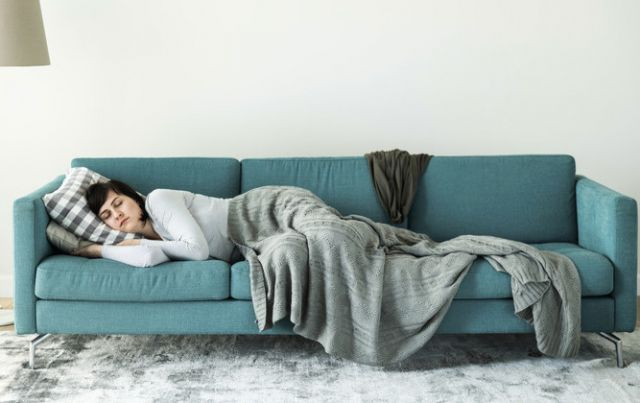 Woman Sleeping on Sofa - Oral Surgery Novato CA